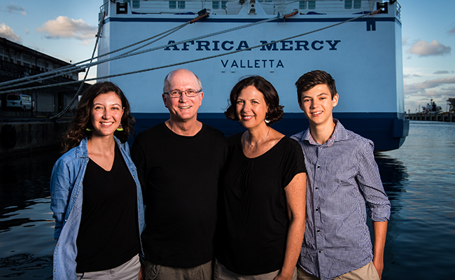 Doctor and family honored for service with Mercy Ships