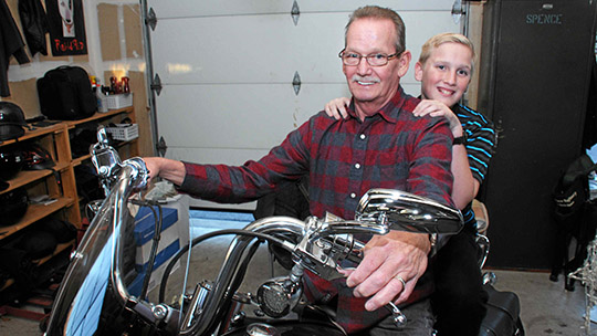 Cyclist's sacrifice saves grandson, OMS serves on trauma team to repair injuries